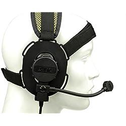 Tactical Bowman Evo III headset militar con TCI Tactical PTT Z029, auriculares tácticos, auriculares anti ruido, auriculares al aire libre, walkie talkie, caza, auriculares de campo, auriculares anti interferencia, equipo de campo, auriculares de campo (negro)