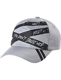 4010fa8de9413 WITHMOONS Gorras de béisbol Gorra de Trucker Sombrero de Baseball Cap Paint  Stripe Police Line Glossy