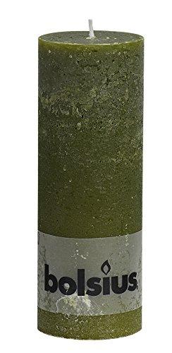 Rustikal Olive (Rustikal 103868000370Stumpenkerze, Paraffin Wachs, Olive Grün)