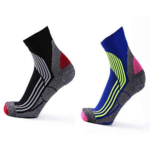 GFJH Laufen Radfahren Kompression Socken Outdoor Sports Kurze Röhre 2 Stücke Für Männer Und Frauen Schweißabsorbierend Atmungsaktiv (Radfahren Kompression Socken)