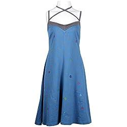 Verano resbalón de las mujeres vestido con patrón de flores de impresión- Bluish