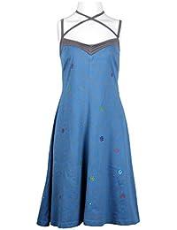 Damen Sommer-Beleg-Kleid mit Blumen-Muster-Druck