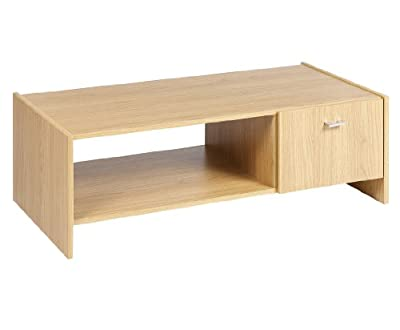 Rosario Coffee Table Oak Effect Unit With Storage Cupboard