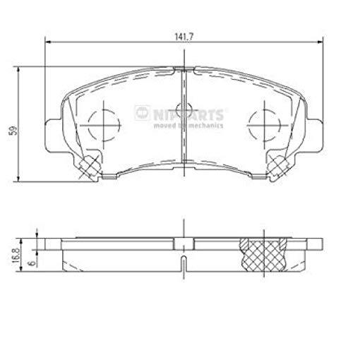 Nipparts J3601096 Pastiglie per Freni per Applicazioni As