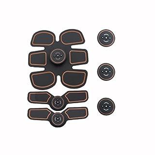 AXC- Wiederaufladbare Muskeltraining Stimulator Gerät Abnehmen EMS Belt Gym Professionelle Massage Bauch Unisex Fitness Ab Toner Gear