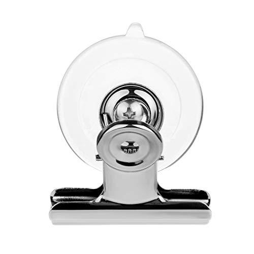 TianranRT Saugnapf Clip Kunststoff Runde Saugnapf Clip Werbung Pop Anzeige Halter Ständer Klammer Satz von 8