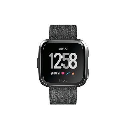 Fitbit Versa Edición Especial - Reloj Deportivo Unisex - Gris/Rosa - Talla S/P + L/G