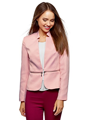 oodji Ultra Mujer Chaqueta Transformable con Parte Inferior Desmontable, Rosa,...