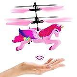 NIMNIK Licorne Volante Drone pour Enfants - Quadcoptère à Induction Infrarouge à Commande Manuelle | Gadgets Amusants pour Garçons, Filles, Adolescents, Adultes | Jeux de Jardin Extérieur Intérieur