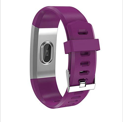 Neues tragbares Gerät Farbbildschirm Bluetooth Armband wasserdicht Meter Schritt Test Herzfrequenz Smart Armband lila