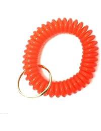 Lot de 3bracelets spirale avec porte-clés rouge Red