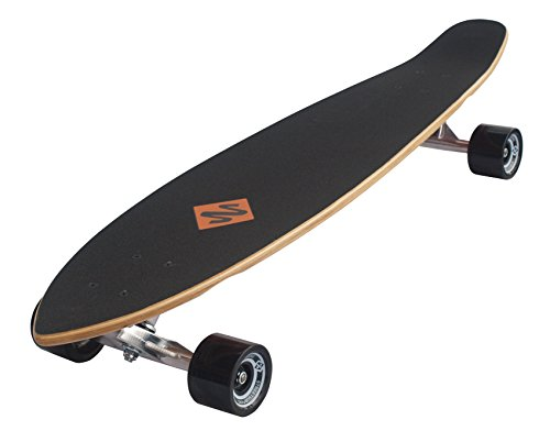 Streetsurfing Street Surfing Kicktail Design: Damaged Orange, 500236 Longboard, Damage Orange, 36