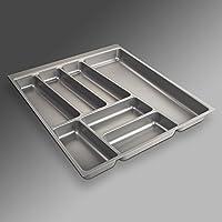 ORGA-Box II Besteckeinsatz für Nobilia 50er Schublade (462 x 405 mm Bitte MESSEN Sie Ihr SCHUBLADENINNENMAß!) Silbergrau