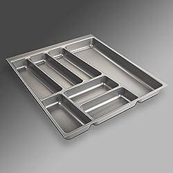 SOTECH Besteckeinsatz ORGA-Box II für Nobilia 50er Schublade (462 x 405 mm) Silbergrau
