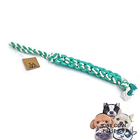 petfun Extra lange Hund Seil geflochten Gute Interaktives Spielzeug, aqua mit großen und kleinen Größen