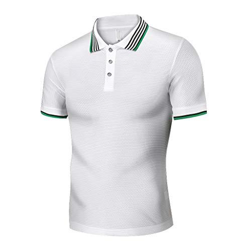 Xmiral T-Shirt Tops Herren Neue Casual Patchwork