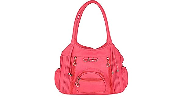 e7d55f8fda94 Sameerr Collection Women Handbags With Beautiful Pink Color With Latest  Model E-23  Amazon.in  Shoes   Handbags