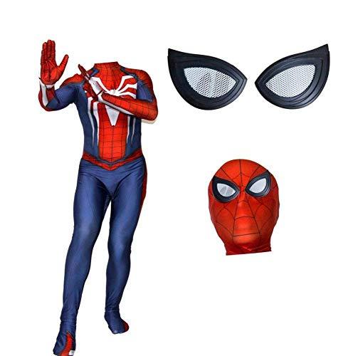POIUYT Kind Ps4 Spiderman Kostüm Cosplay Siamesische Strumpfhosen Halloween Kostüm Party Theme Party Filmrequisiten Erwachsene Avengers Superhero Kopfbedeckungen Getrennt,Child-L (Avengers Theme Party)