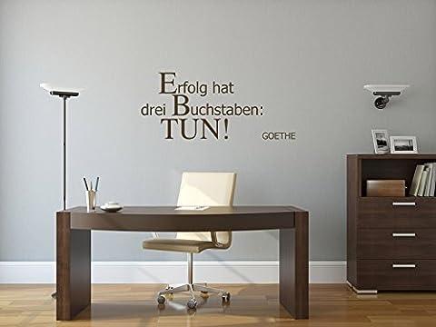 Erfolg hat drei Buchstaben: TUN! - Braun - ca. 70 x 30 cm