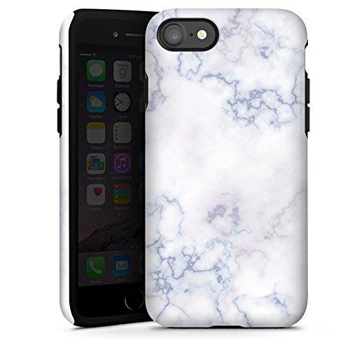 Apple iPhone X Silikon Hülle Case Schutzhülle Marmoriert Marble Marmor Look Tough Case glänzend