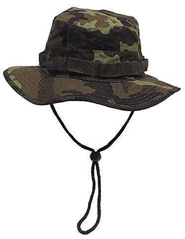 US GI bonnie hat, rip stop, bande menton, Couleur:Typ 95 CZ tarn/camo;Taille:S