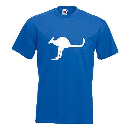 KIWISTAR - Känguru Kangaroo Beuteltier T-Shirt in 15 verschiedenen Farben - Herren Funshirt bedruckt Design Sprüche Spruch Motive Oberteil Baumwolle Print Größe S M L XL XXL Royal