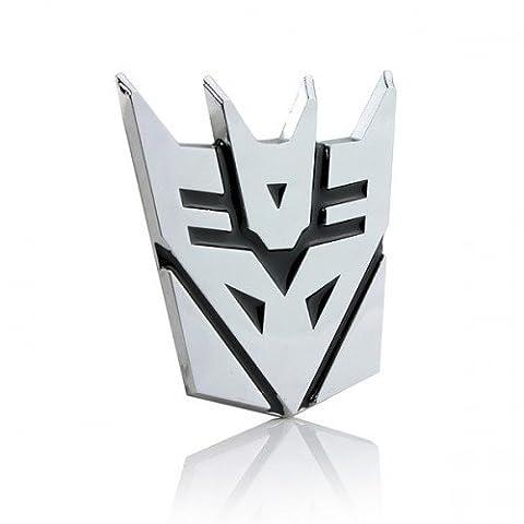 Transformers Decepticon 3D Chrome Car Emblem Decal Badge Sticker - MEDIUM SIZE