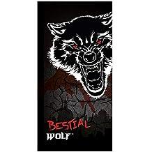 Textil Tarragó Bestial Wolf Toalla de Playa Algodón, ...