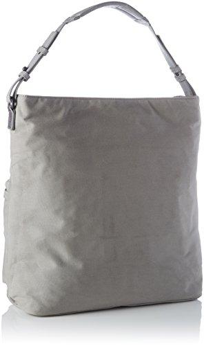 Marc O'Polo Damen Hobo Bag Schultertasche, 18 x 55 x 55 cm Grau (Light Grey)