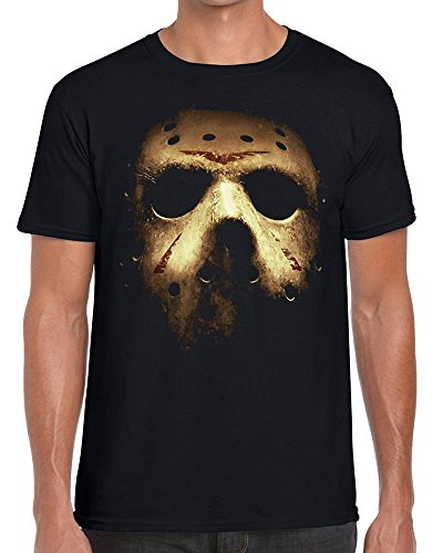 Funky NE Ltd Jason Voorhees Halloween Mask - Friday 13th - Horror - Tshirt - 100% Cotton - Small To XXL - 1 Colour - Great Gift Idea by