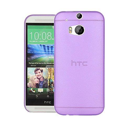 Quicksand Air Skin Case For HTC One (M8) dual sim - Premium Case Cover (Purple)