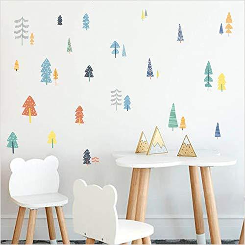 Woodland Trees Stickers On The Wall Calcomanías de dibujos animados nórdicos para...