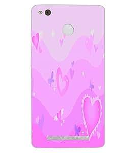 ColourCraft Love Hearts Design Back Case Cover for XIAOMI REDMI 3X