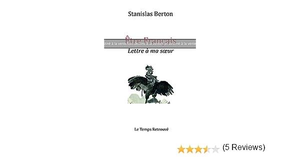 Amazonfr épreuve Etre Français Lettre à Ma Soeur