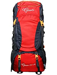 Gleam 0402 Climate Proof Mountain Rucksack, Backpack 80Ltrs Red & Black with Rain Cover