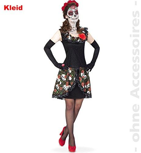 Unbekannt Damen Kostüm Tag der Toten Totenkopf Kleid -