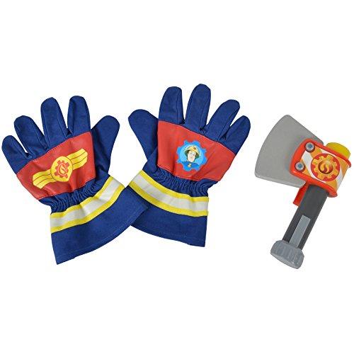 #0618 Spielzeug Handschuhe und Axt Feuerwehrmann Sam • Kindergarten Feuerwehr Kinder