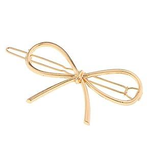 perfk Haarspange Metall Schleife Haarspange Geometrische Haarschmuck Kopfschmuck Haar Zubehör