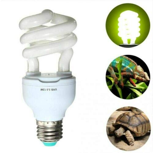 HoneyCare Reptilien Amphibien UVB 10.0 Lampe 13W, leichte kompakte Glühlampe Globe 13W Calcium Reptile Lizard Turtle -