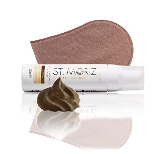 St Moriz Professional Self Tanning Mousse Medium 200ml inkl. Zubehör (Medium Mousse + Applikator)