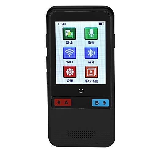 Traduttore vocale portatile, Traduttore multilingue in tempo reale WiFi  Pocket Translator intelligente con touch screen HD da 2,4 pollici, Supporto  45