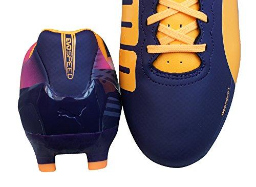 Puma  evoSPEED 4.2 FG, Chaussures de football hommes Violet - Violet/vert-noir-blanc
