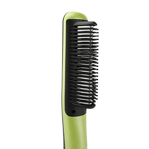 Alisador de pelo estrecho permanente peine de pelo recto no duele pelo peluquería de cerámica adecuado para el cabello largo