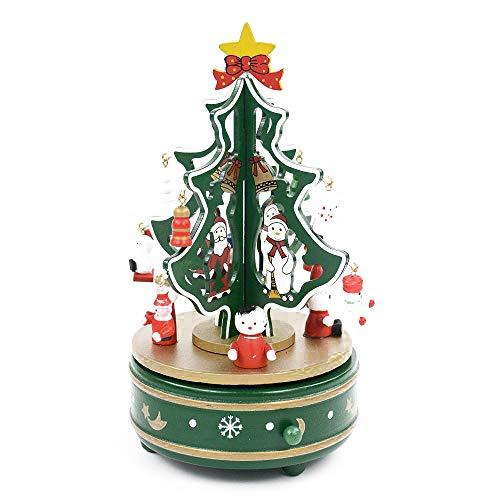 MMTC Adornos De Navidad Colgante Regalos Caja De Música Decoración De Escritorio Árbol De Navidad Caja De Música,Green