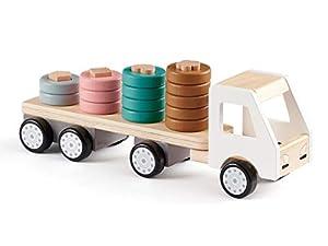 Kids Concept apilable Aros Coches y Camiones Aviones Vehículos de Juguete Unisex, Multicolor (1000427)
