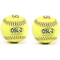 barnett OSL-2 balle de softball compétition , 12'', JAUNE, 2 pièce