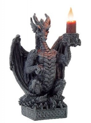 DRAGON CANDLE HOLDER - Light Keeper Gothic Ornament by Nemesis Now by Nemesis Now (Light 8 Slate)