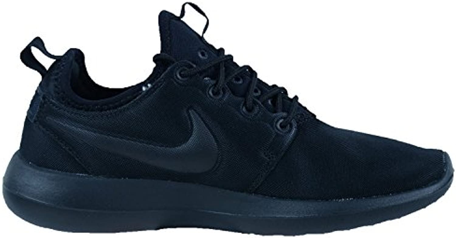 Nike New Women's Roshe Two Shoe (7, Black/Black/Black)