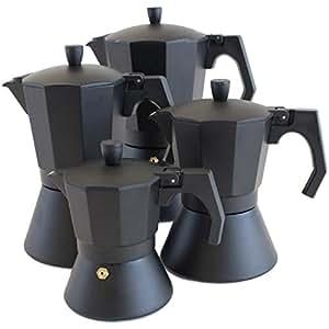 oxid7 italienischer espressokocher espresso mokka maker aluminium f r 3 tassen espressomaschine. Black Bedroom Furniture Sets. Home Design Ideas