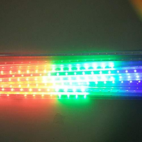 WSYYWD Meteor Regen Regenschlauch Weihnachtsbeleuchtung Wasserdichte LED Weihnachtsbeleuchtung Weihnachtslichterketten Bunte 50cm Eu-Stecker